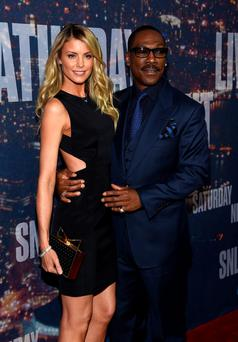 NEW YORK, NY - FEBRUARY 15: Paige Butcher (L) and Eddie Murphy attend SNL 40th Anniversary Celebration at Rockefeller Plaza on February 15, 2015 in New York City. (Photo by Larry Busacca/Getty Images)