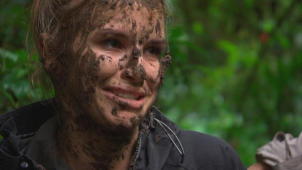Vogue Williams in a still from 'Bear Grylls: Mission to Survive'
