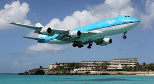 A KLM Boeing 747-400 approaches St. Martin's Princess Juliana International Airport (SXM). Over 1,500 of the iconic aircraft have been built and delivered since 1966.