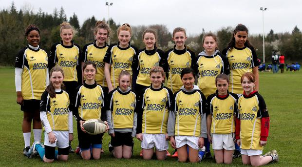 The Abbeyfeale girls team at last year's IRFU All-Ireland Under 10's And Under 12's Mini Festival