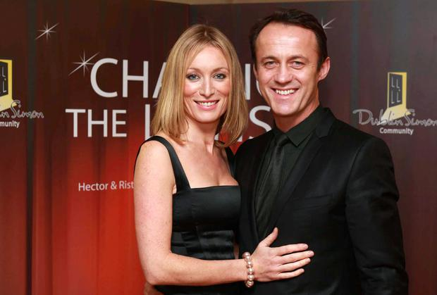 Happier times: Victoria Smurfit and husband Douglas Baxter