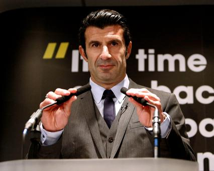 Luis Figo was viewed a credible candidate