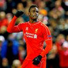 Mario Balotelli celebrates scoring Liverpool's winner against Besiktas from the penalty spot