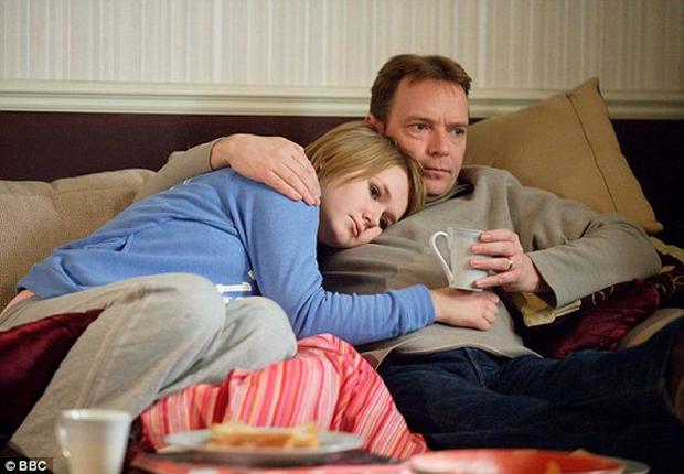 Ian comforts daughter Lucy