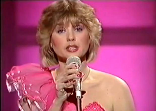 Maxi singing 'My Love and You' with Sheeba during the Eurovision in 1984