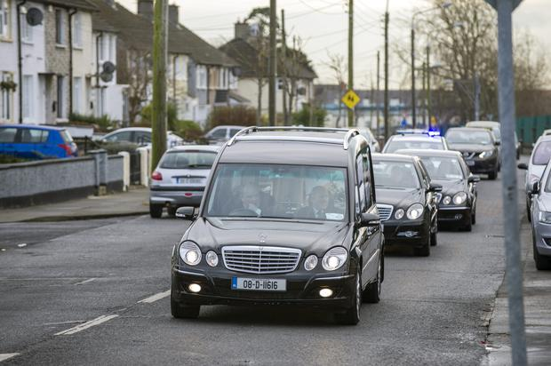 Friday 20 February 2015. Church of the Annunciation, Finglas West, funeral of Thomas Kennedy.