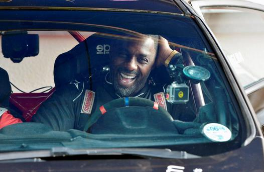 Undated handout photo of actor Idris Elba test driving in County Monaghan