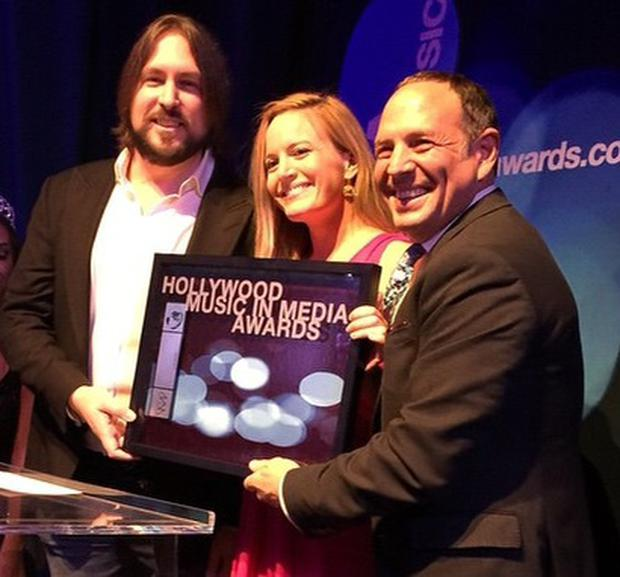 Eimear Noone recieving the 2014 Hollywood Music in Media Award for