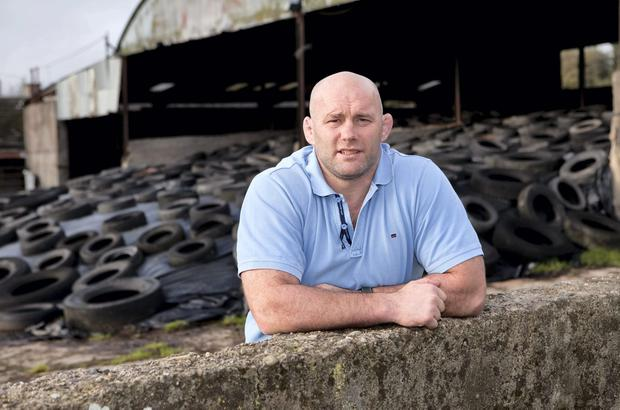 John Hayes is loving life on his farm, delighted that he never has to wear a tracksuit