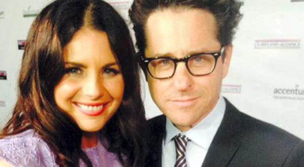 Lisa Cannon pictured with Producer/director J.J. Abrams