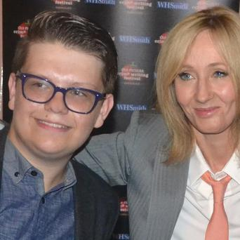 JK Rowling pictured with Johnnie Blue