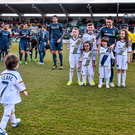 Robbie Keane, LA Galaxy, gathers his nephews, nieces and his son Robert for a photograph before the start of the pre-season friendly between Shamrock Rovers and LA Galaxy.