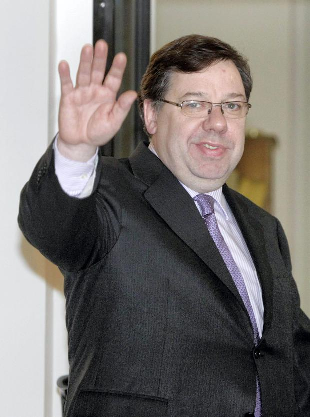 Former Taoiseach Brian Cowen pictured in 2010
