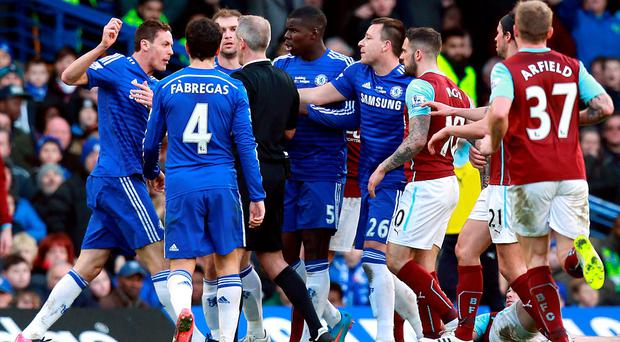 Chelsea's Nemanja Matic received a straight red card for violent conduct