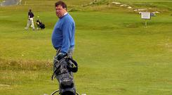 Furlough: Brian Cowen golfing in Connemara in Summer 2008