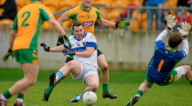 The match between St Vincent's and Corofin was one of those helter-skelter games where anything could happen - and did most of the time
