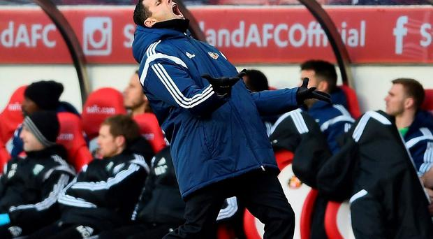 Head coach Poyet was convinced Baggies defender Joleon Lescott should have been sent off after being penalised for a fifth-minute foul on Danny Graham, and then saw a tight offside decision go against his team when Adam Johnson thought he had broken the deadlock.