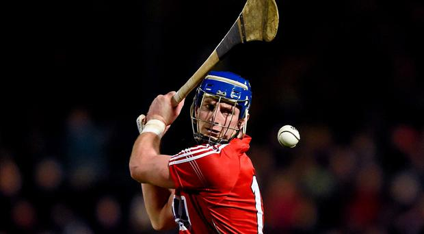 Patrick Horgan, Cork, strikes a free