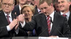 Enda Kenny after giving his Taoiseach's address at the Fine Gael's National Conference 2015 in the TF Royal Hotel Castlebar. Picture: Mark Condren