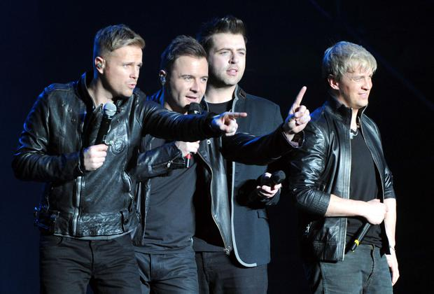 Mark Feehily, Shane Filan, Kian Egan and Nicky Byrne of Westlife