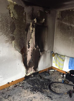 Dublin Fire Brigade issued a warning after an over heated phone charger sparked blaze in Castleknock,  Dublin 15. Photo: Twitter/DFB