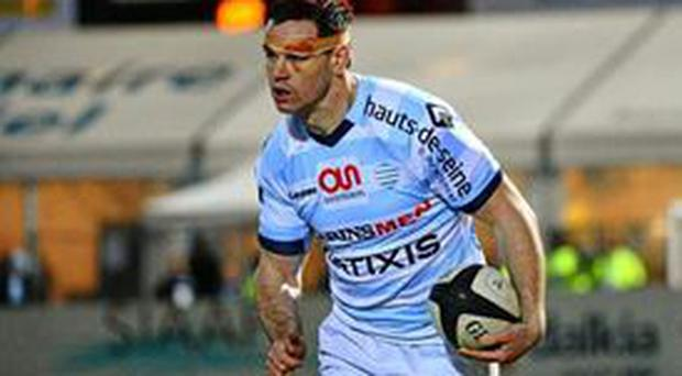 Racing Metro's Johnny Sexton was wearing a head bandage following his collision with Mathieu Bastareaud in the Six Nations encounter between Ireland and France last weekend.