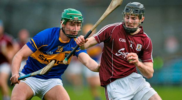 Padraig Mannion, Galway, in action against Conor Kenny, Tipperary