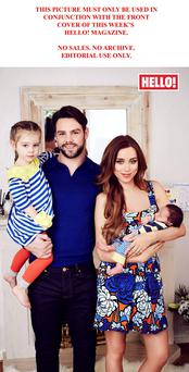 Ben and Una Foden with their children Aoife (left) and Tadhg appearing in this week's edition of Hello!