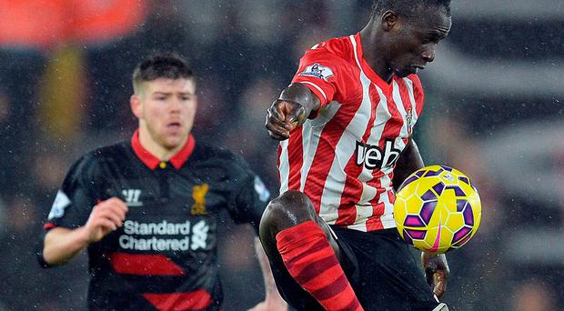 Southampton midfielder Sadio Mane was relegated to the bench for his side's defeat to Liverpool. Photo: GLYN KIRK/AFP/Getty Images