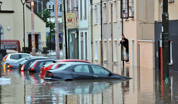 Flooding in Blackpool, Cork in 2012. Photo: Michael Mac Sweeney/Provision