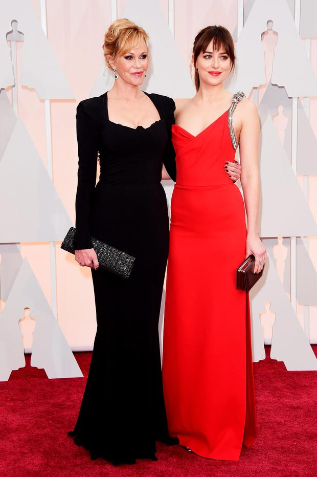 MISS: Melanie Griffith and daughter Dakota Johnson would be perfect if this was Oscars 1987.