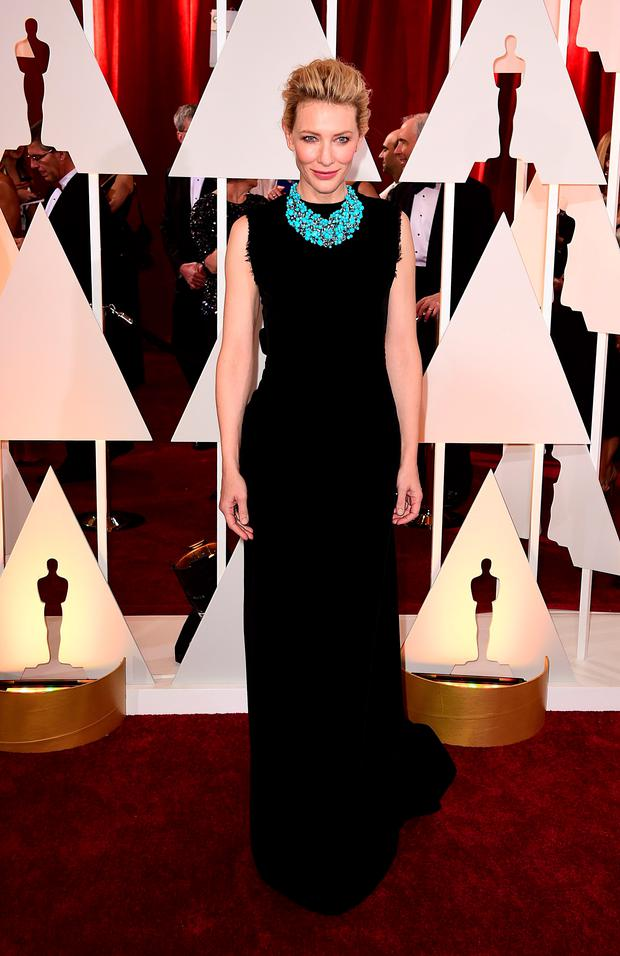 Cate Blanchett arriving at the 87th Academy Awards held at the Dolby Theatre in Hollywood, Los Angeles, USA. PRESS ASSOCIATION Photo. Picture date: Sunday February 22, 2015. See PA story SHOWBIZ Oscars. Photo credit should read: Ian West/PA Wire