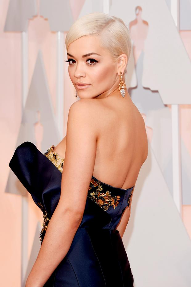 HOLLYWOOD, CA - FEBRUARY 22: Recording artist Rita Ora attends the 87th Annual Academy Awards at Hollywood & Highland Center on February 22, 2015 in Hollywood, California. (Photo by Jason Merritt/Getty Images)