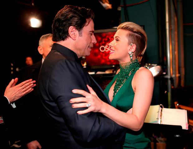 The 'Oh, Scarlett Johansson I'm going to make you regret running into me' pre-hug