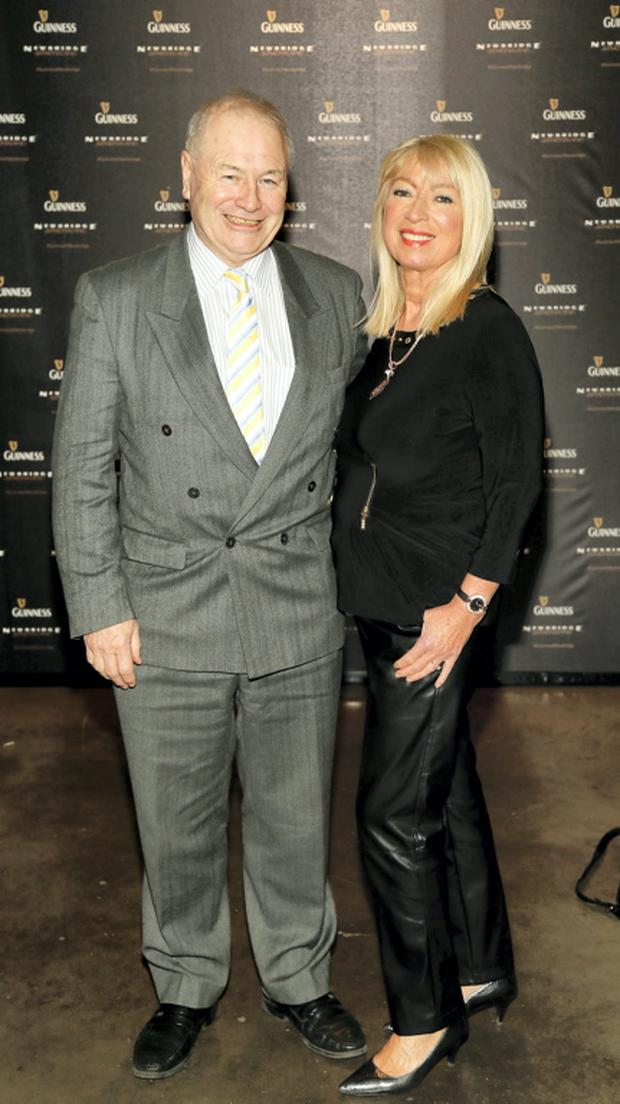 Dan McGrattan and Anne Doyle at the exclusive launch of the GUINNESS by Newbridge Silverware Collection