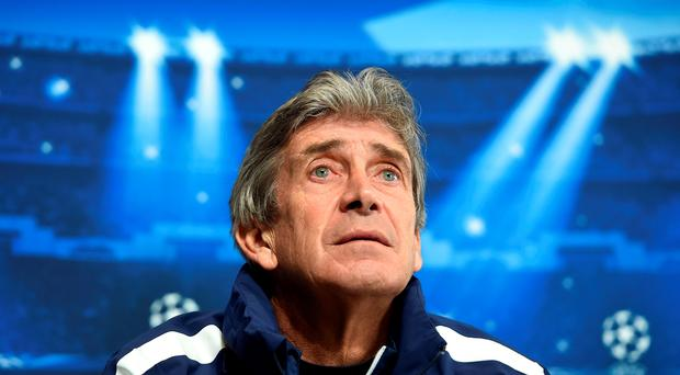 Manchester City manager Manuel Pellegrini speaks, during a press Conference at City Football Academy