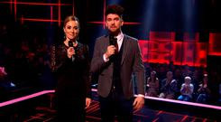Kathryn Thomas and Eoghan McDermott on The Voice of Ireland