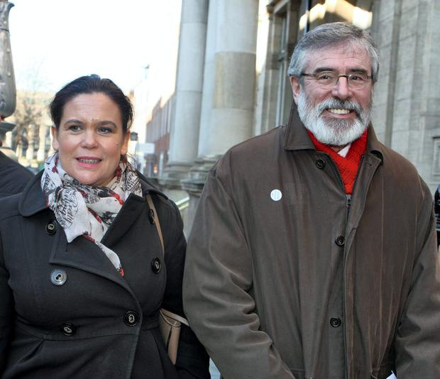 The next election may be Gerry Adams' last, but will Mary Lou McDonald be his 'untried' successor? Photo: Tom Burke