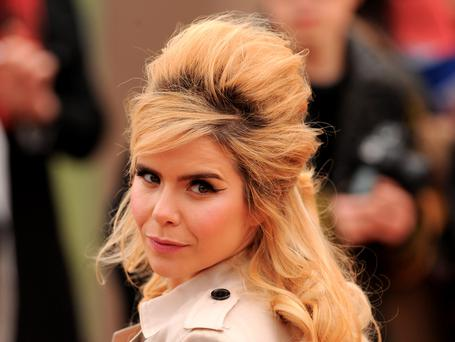 Paloma Faith arriving for the Burberry Prorsum womenswear catwalk show at Kensington Gardens, as part of London Fashion Week