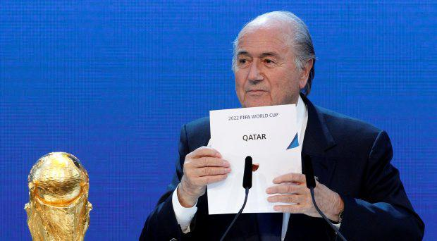 FIFA President Sepp Blatter announces Qatar as the host nation for the FIFA World Cup 2022, in Zurich in this December 2, 2010 file photo