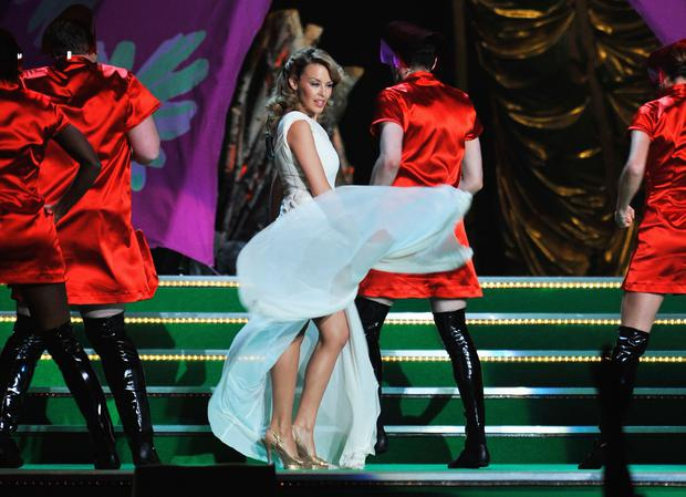 Kylie Minogue at the 2009 Brits