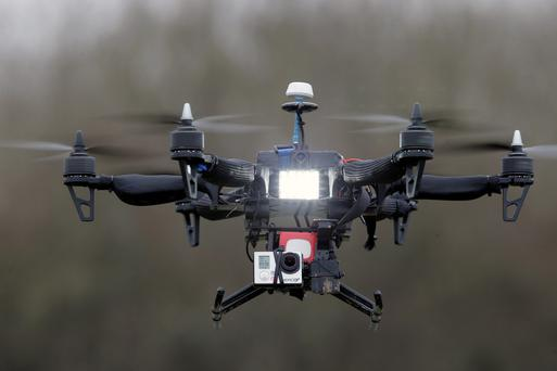 Paris police say they spotted at least five drones flying over the French capital overnight, over the Eiffel Tower, the Louvre Museum and the American Embassy, among other locations (AP Photo/Francois Mori, File)