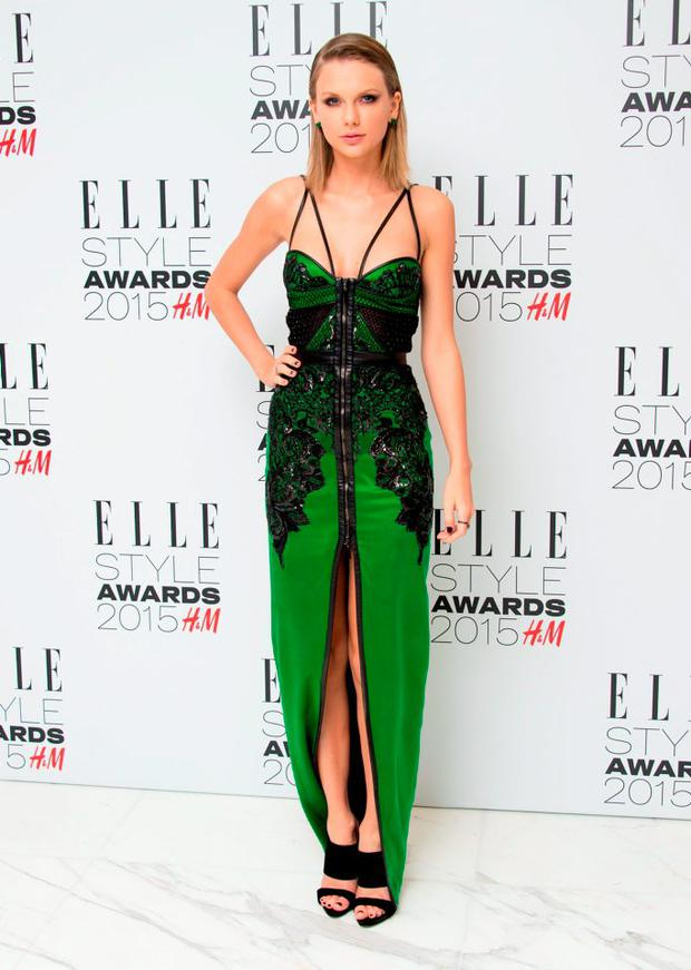 Taylor Swift attends the Elle Style Awards 2015 at Sky Garden @ The Walkie Talkie Tower