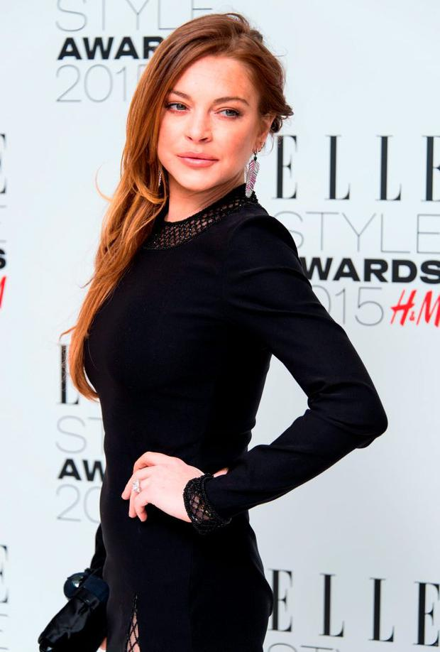 Lindsay Lohan attends the Elle Style Awards 2015 at Sky Garden