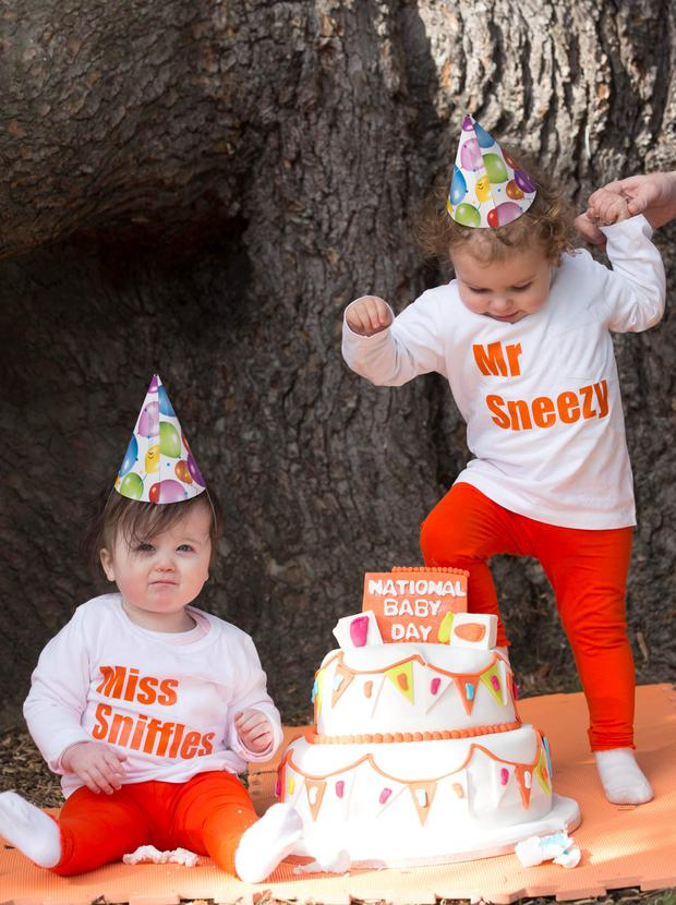 Isabella (10 months) and Elsa (9.5 months) joined Nurofen for Children to celebrate the return of National Baby Day. To celebrate, pharmacies nationwide will provide advice to parents on children's ailments such as cold & Flu and pain while also giving away 70,000 free thermometers (no purchase necessary).