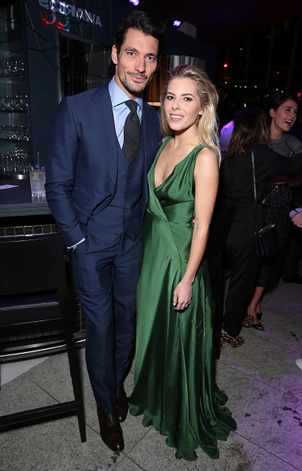 David Gandy and Mollie King attend the after party for the Elle Style Awards 2015 at Sky Garden @ The Walkie Talkie Tower on February 24, 2015 in London, England.