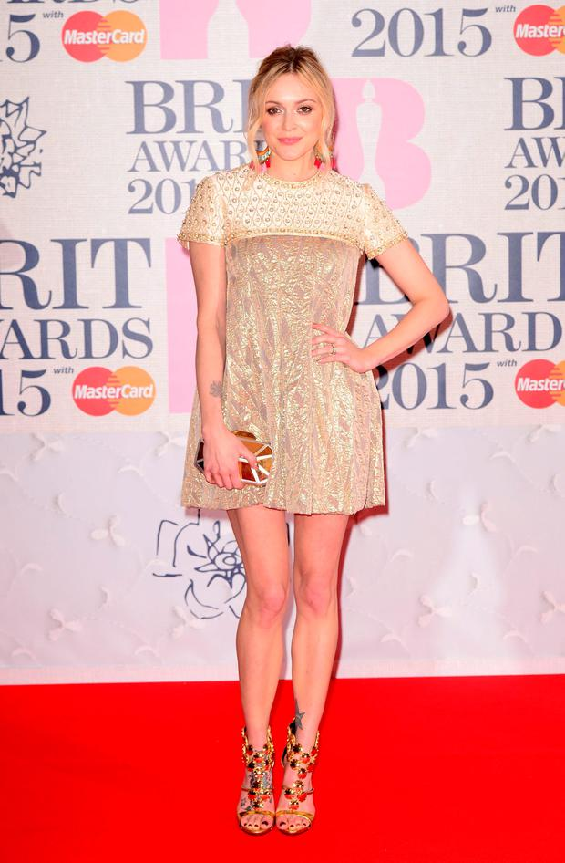 Fearne Cotton arriving for the 2015 Brit Awards at the O2 Arena, London.