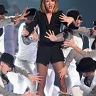Taylor Swift performs on stage during the BRIT Awards 2015 at The O2 Arena