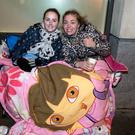 Ed Sheeran fans Nicole Dunne age 21 and Chantelle Byrne, 21, Infirmary Road, Dublin, queue overnight outside the Jrevis Street Shopping centre to buy tickets for the Ed Sheeran concert which go on sale on Thursday morning. Picture:Arthur Carron
