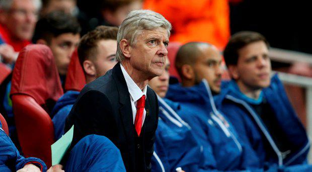 Arsenal manager Arsene Wenger during the UEFA Champions League Round of 16 match at the Emirates Stadium, London
